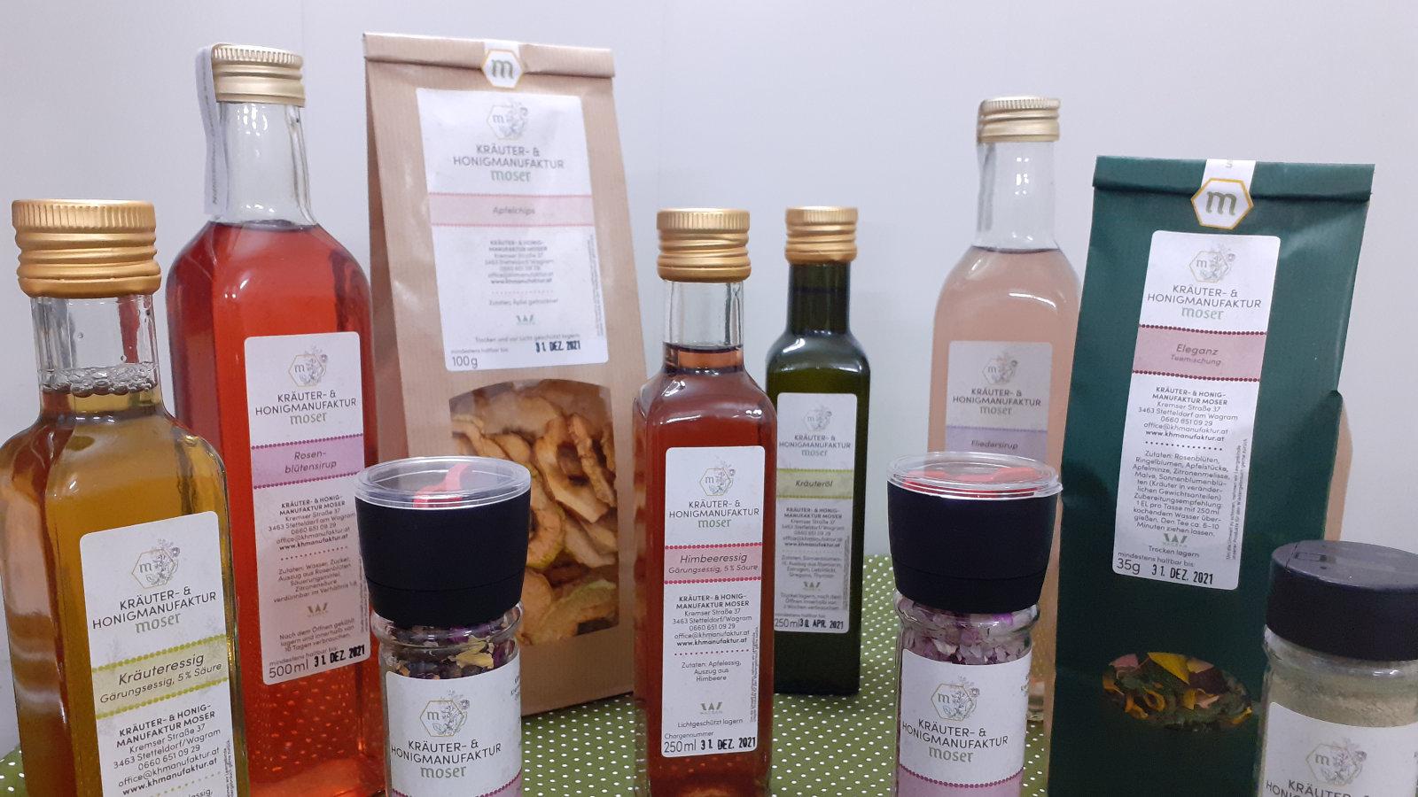 Honig und Kräuterprodukte